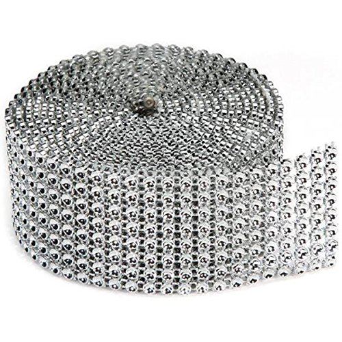 Darice Bling on a Roll, 3mm by 2-Yard, 8 Rows, Silver