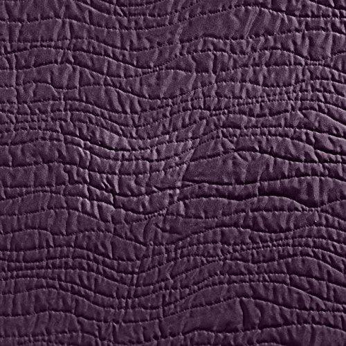 Linder 5015 /75/835/180 Mikado - Juego de colcha y 1 funda de almohada (poliéster, 240 x 180 cm), color berenjena