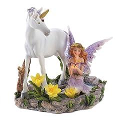 Gifts & Decor Forest Magic Unicorn Fairy Figurine Home Accent Decor
