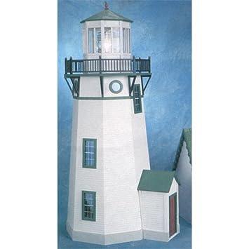 Maison de poupées miniature 1:12 échelle plat paquet non peinte PHARE KIT