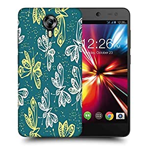 Snoogg White And Yellow Butterfly Printed Protective Phone Back Case Cover For Micromax Canvas Nitro 4G