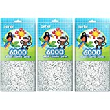 Perler Beads White Bead Bag (6000 Count) (3 Pack) (Tamaño: 3 Pack)