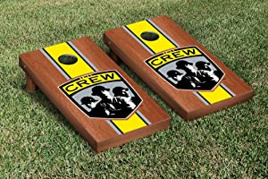 Columbus Crew CCSC Cornhole Game Set Rosewood Stained Stripe Version by Gameday Cornhole