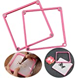 Palksky Cookie Decorating Stencil Frame Magnetic Stencil Genie Frame Two Different Thicknesses Stencil Holder