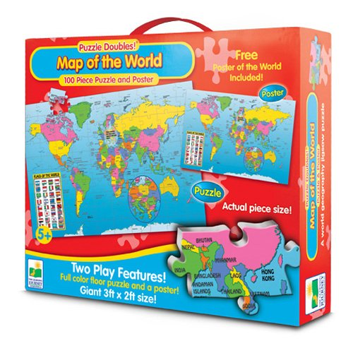 61%2BipELxaeL Cheap  The Learning Journey Puzzle Doubles & Poster Series Map of the World Floor Puzzle