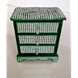 KINGS AND QUEENS Jewel Box With 3 Drawer Green