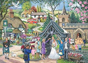 1000 Piece Jigsaw Puzzle - Find the Differences No.4 - 'Wedding Day'