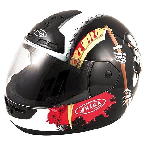 Akira casque de moto intégral nagoya death noir/blanc