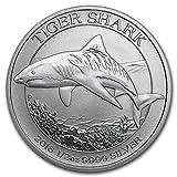 2016年 オーストラリア ・タイガーシャーク ・1/2オンス 銀貨 15.5g シルバー コイン インゴット 純銀 高級アクリルカプセル・クリアーケース付き