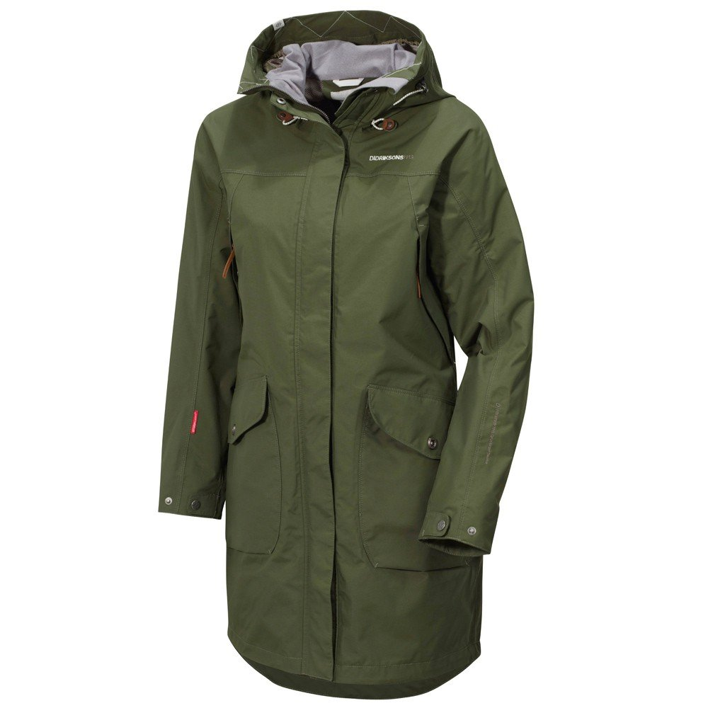 Didriksons Thelma Lady Coat / Damen-Mantel, peat -olive – 38 günstig online kaufen