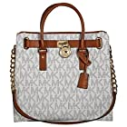 Michael Kors Large Hamilton Women's Handbag Tote Shoulder Bag White