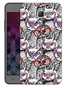 "Humor Gang Owls And Glasses Printed Designer Mobile Back Cover For ""Samsung Galaxy Grand 2"" (3D, Matte, Premium Quality Snap On Case)"