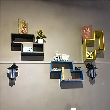 FGSGJ Scaffale industriale di parete del salone della camera da letto della parete della camera da letto del ripiano del muro di ferro d'annata industriale