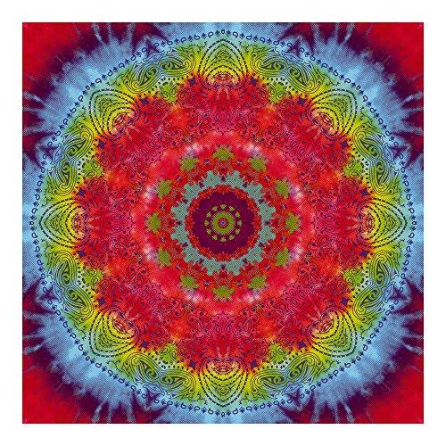 Kaleidoscope Tie-Dye Bandanas