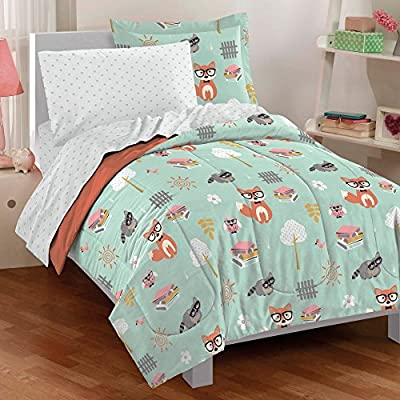 Woodland Friends 5 Piece Mini Bed in a Bag Set - Twin by CHF
