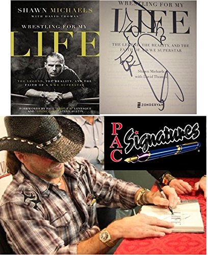 Shawn Michaels Autographed Book Wrestling for My Life World Wrestling WWE WWF W/coa & Picture From Signing