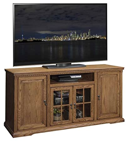 63.56 in. TV Cabinet in Rustique Finish