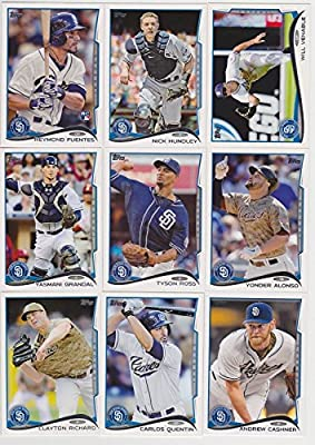 San Diego Padres 2014 Topps MLB Baseball Regular Issue Complete 21 Card Team Set with Huston Street, Cameron Maybin Plus