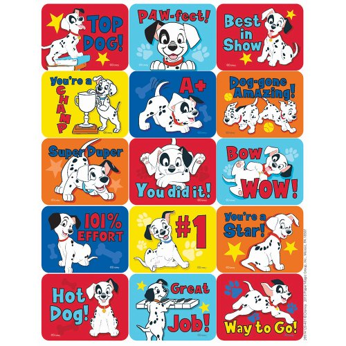 Eureka 101 Dalmatians Motivational Success Stickers