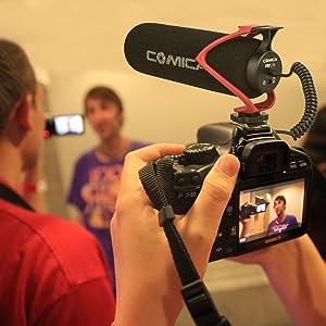 COMICA CVM-V30 LITE VIDEO MICRÓFONO CONDENSADOR SUPERCARDIOIDE Micrófono de escopeta en la cámara para Canon Nikon Sony Cámara Panasonic / DSLR / iPhone Samsung Huawei? Red?
