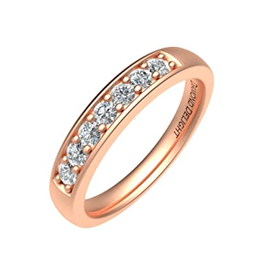 Diamond Delight Women's 14K 7 Stone Pave Set Wedding Ring (VS1-VS2, 1/4 Carat)