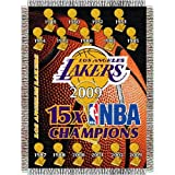 NBA Los Angeles Lakers 48-Inch-by-60-Inch Commemorative 16X Champ Acrylic Tapestry Throw