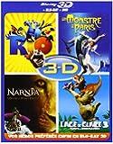 Blu-ray 3D - Coffret 4 films : Rio + Un monstre à Paris + L'âge de glace 3 + Le monde de Narnia - Chapitre 3