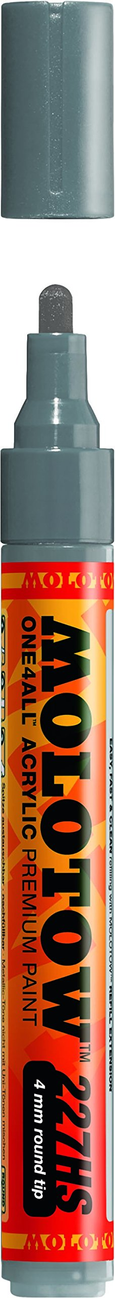 Molotow ONE4ALL Acrylic Paint Marker, 4mm, Grey Blue Dark, 1 Each (227.244) (Color: Gray Blue Dark, Tamaño: Paint Marker - 4mm)