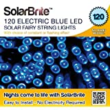 Solar Brite Deluxe BLUE Solar Fairy Lights 120 LED Super Bright Decorative String, choice of light effect. Ideal for Trees, Gardens, Parties & More...by Solar Brite