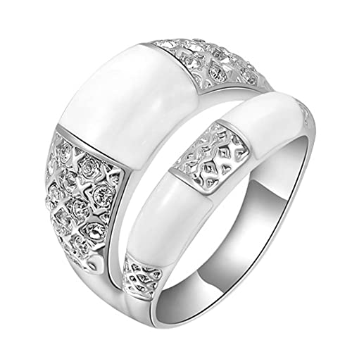 YWCZDZ Women's Filigree Round Wedding Ring
