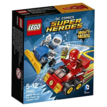LEGO - 76063 -  Super Heroes - Dc Comics - Jeu de Construction - Mighty Micros : Flash contre Captain Cold