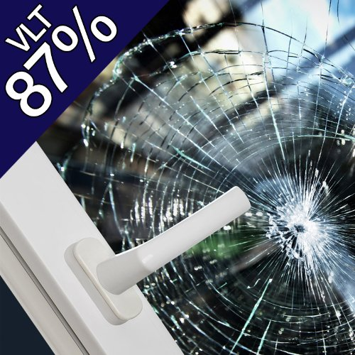 "Security Window Film Clear 8 Mil (36"" X 12Ft) front-4798"