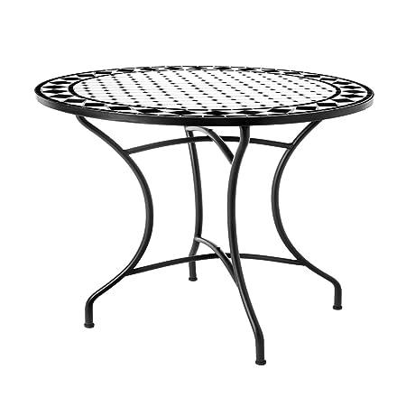 Mesa de jardín o comedor de cerámica negra Garden - Lola Derek