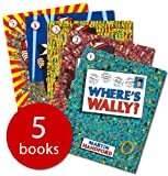 Martin Handford Where's Wally books: 5 large picture books and 1 Sticker Book (Where's Wally / Where's Wally Now / Wheres Wally The Fantastic Journey / Wheres Wally The Wonder Book / Wheres Wally In Hollywood)