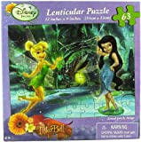Disney Fairies Tinkerbell 63-Piece Lenticular 3D Jigsaw Puzzle - Forest Pond