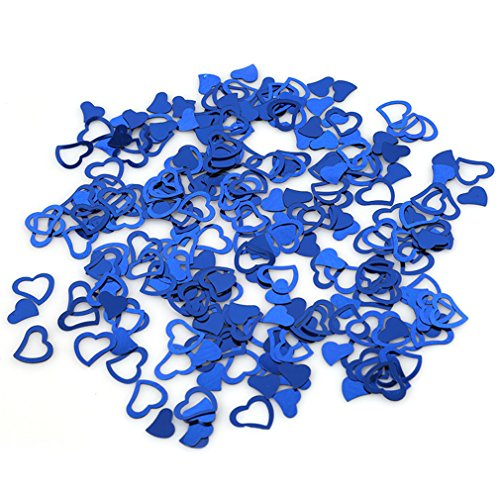 VWH Blue Heart-shaped Wedding Confetti Spilled DIY Celebrations Party Supplies