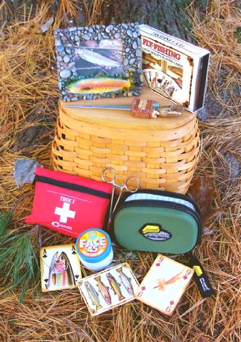 Fly Fishing Creel Gift Basket