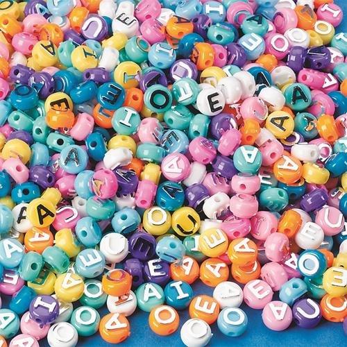 S&S Worldwide Pastel Bead Vowels 1/16