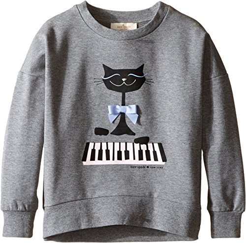 Kate Spade New York Kids Girls Cat Sweatshirt (Toddler/Little Kids)