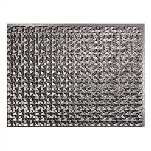 "Fasade Easy Installation Terrain Galvanized Steel Backsplash Panel for Kitchen and Bathrooms (18"" x 24"" Panel)"