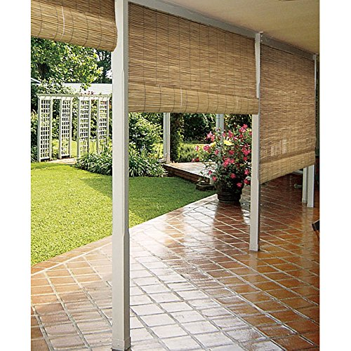 (USA Warehouse) Outdoor Blind Bamboo Patio Deck Shade Protection Rollup Window Display Stand Sun -/PT# HF983-1754418686 (Outdoor Bamboo Shades Roll Up compare prices)