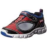 Stride Rite Spider-Man Spidey Reflex Light-Up Shoe (Infant/Toddler/Little Kid),Red/Black,6 M US Toddler (Color: Red/Black, Tamaño: 6 M US Toddler)
