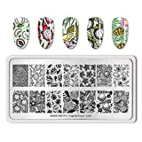 Summer Fruit Nail Art Stamping Template Tropical Punch Pattern Rectangle Image Plate Stamping Polish Needed BP-T-L001 (Color: BP-T-L001)