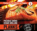 Salmon Cedar Grilling Planks - Adds a Delicious Smoky Flavor - No Loss of Nutrients in Food - Juicier and More Flavorful - Helps Keep Food Moist and From Falling Apart - All Natural - Organic - Healthier Grilling Option - 60 Day Money Back Guarantee!