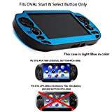 COSMOS ® Light Blue Protection Hard Case Cover for Playstation PS VITA 1000, Fits for Oval Start & Select Button Only, with LCD Touch Screen Cleaning Cloth (Color: AL/PC-Light Blue)