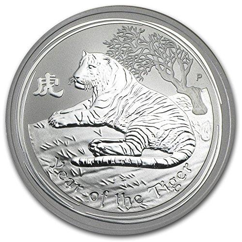 Australian Lunar Silver 1 oz Silver Series II 2010 Tiger