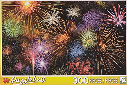 Puzzlebug 300 Piece Puzzle ~ Colorful Fireworks - 1