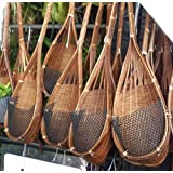 Exotic Elegance 4 Pieces Garden Decorative Bamboo Woven Hanging Flower Plant Pot.