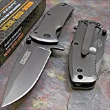 TAC-FORCE Grey TITANIUM Spring Assisted Open TACTICAL Folding Pocket Knife NEW
