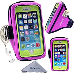 OtterBox / Lifeproof Armband with Headphones Organizer and Key Holder for OtterBox Defender or Commuter Series Or Lifeproof Cases for Apple 4.7 Inch iPhone 6 by Wisdompro (Purple)